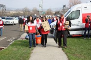 Volunteers who helped install more than 1,170 free smoke alarms in the Greater New Haven area as part of the Red Cross Sound the Alarm. Save a Life. event.