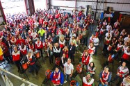 Nearly 300 volunteers gathered in New Haven to help the Red Cross Sound the Alarm!